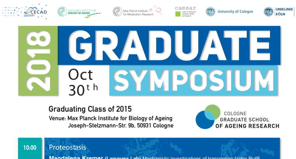 Graduate Symposium October 30th 2018